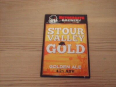 Beer pump clip badge / Advert ,  Nethergate  Brewery,  Stour Valley Gold
