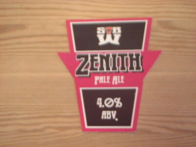Beer pump clip badge / Advert ,  S.B.W. Brewery,  Zenith Pale ale