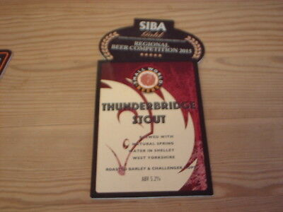 Beer pump clip badge / Advert ,  Small World Beers Brewery, Thinderbridge Stout