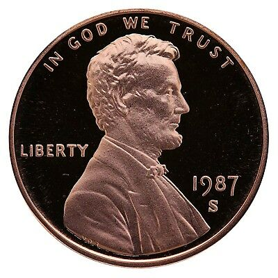 1987-S  Proof Lincoln Cent Nice Coins Priced Right Shipped FREE