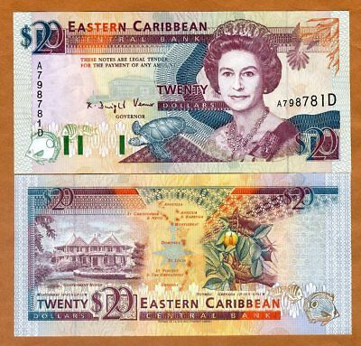2012 P-53 UNC /> Cricket Marks Eastern East Caribbean $20 ND