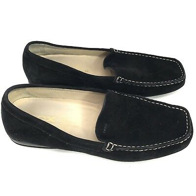 0f421204264 Geox Respira Womens Driving Shoes Black Slip On Loafers Size 37 Made in  Italy