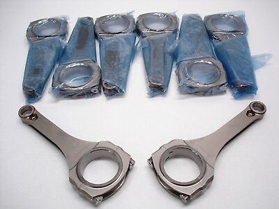 "Nascar Pankl 6.200"" Connecting Rods 1.976""-1.850""-.855""-.709"" Pin Carrillo #365"
