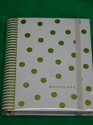 Lg Address Book Gold Dots