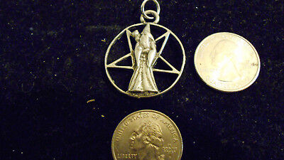 bling pewter 5 POINT STAR WITCH myth wizard DEMONIC pendant charm chain necklace