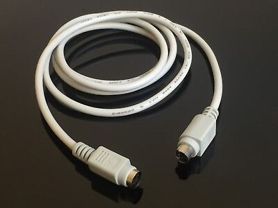 2x PS2 Extension Cable 6 pin mini-DIN male/female for  Mouse Keyboard 1.5m