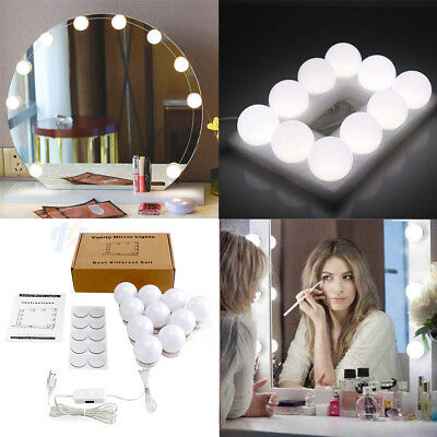 Make up Mirror Lights 4/10 LED Hollywood Kit Bulbs Wall Vanity Dimmable Lights