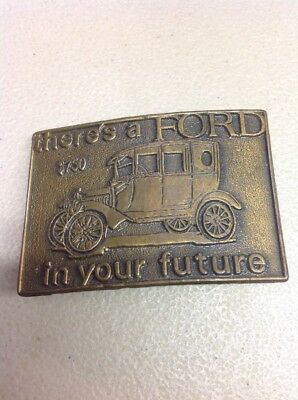 FREE SHIPPING!! VINTAGE METAL/ BRASS BELT BUCKLE- Ford Model A T Car Truck
