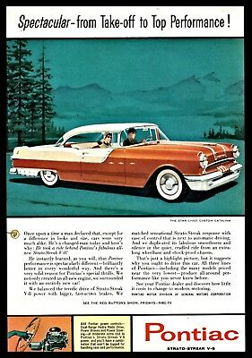 1955 PONTIAC Star Chief Custom Catalina Vintage Classic Car AD