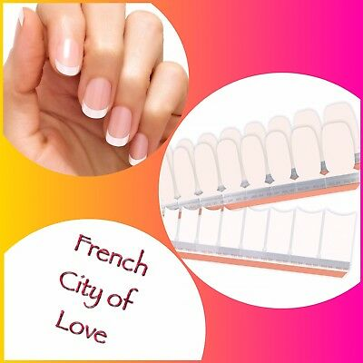 Color Street Nail Polish Strips *NEW* *Free Shipping* CITY OF LOVE French