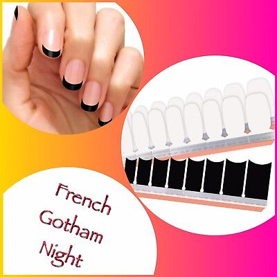 Color Street Nail Polish Strips *NEW* *Free Shipping* GOTHAM NIGHT French