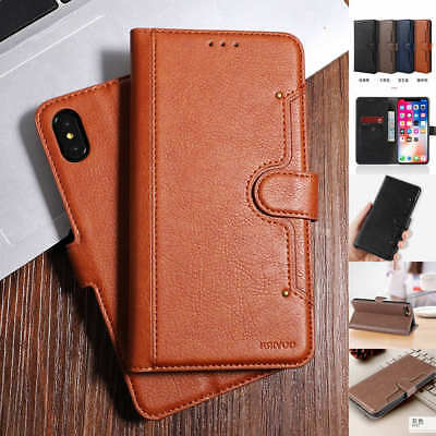 For iphone Xs Max Xr 8 7 6 Luxury Leather Wallet Card Slot Flip Phone Case Cover