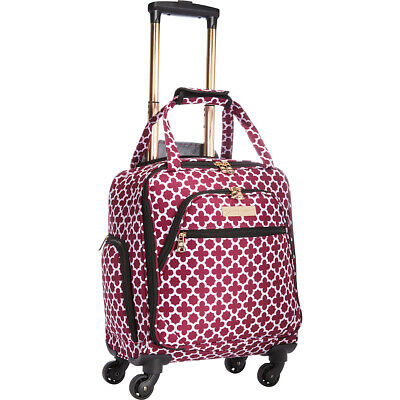 "Jenni Chan Aria Broadway 15"" Spinner Underseat Tote Softside Carry-On NEW"