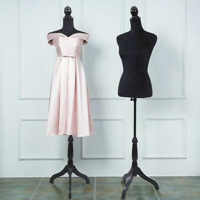 Half-length Female Mannequin Torso Dress Clothing Display W/ Black Tripod Stand