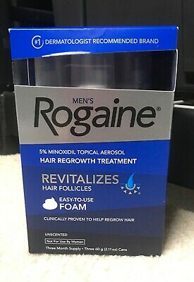 Mens Rogaine Unscented Foam 3 Month Supply, exp. 01/2021