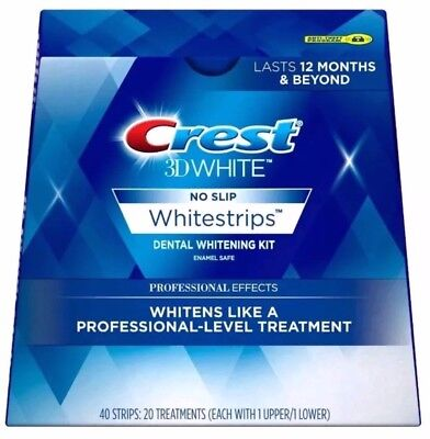 Crest 3D White Professional Effects 40 Strips 20 Treat Whitestrips Exp 01-2020