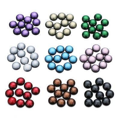 30Pcs Round Flat Back Resin Buttons DIY Sewing Scrapbook Craft Decoration New