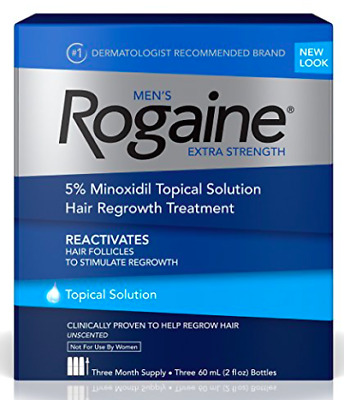 Mens Rogaine Extra Strength Topical Solution 3 Month Supply