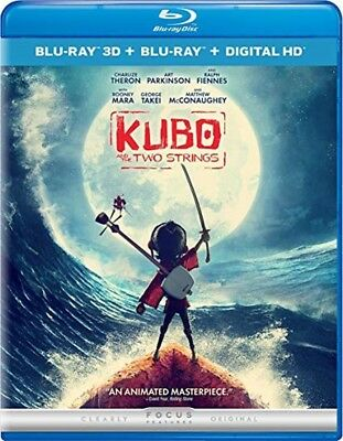 KUBO AND THE TWO STRINGS (3D/Blu-ray, 2016, 2-Disc Set) New / Free Shipping