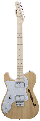 New Fender Japan Traditional 70s Telecaster Thinline Natural Left-Hand Guitar