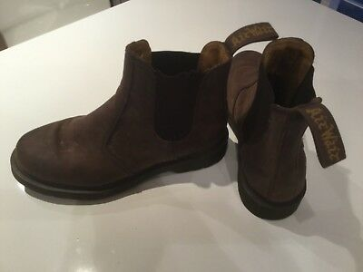 67c3b20d44463 Womens Dr Martens 2976 Gaucho Crazy Horse Leather Chelsea Ankle Boots Size 6