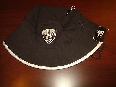 c44ca6d2d7dc4 BROOKLYN NETS NET NEW ERA GOLF SZ L RARE SCRIPT hat cap BUCKET FLOPPY BEACH