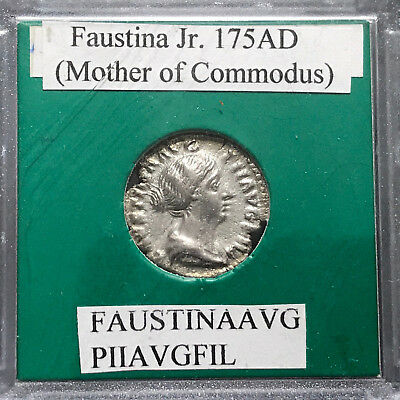 Ancient Roman Coin, Faustina Jr 175 AD, Mother of Commodus, Concordia rev(47787)