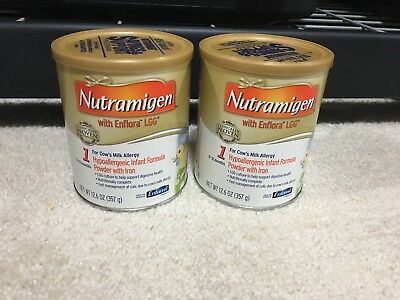 (2) Two Cans of Enfamil Nutramigen Powdered Baby Infant Formula, 12.6 oz Cans