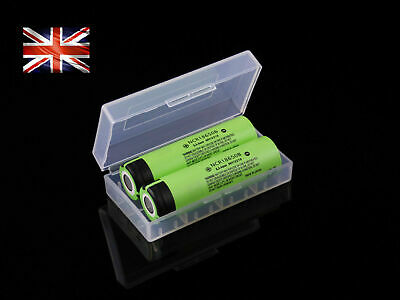 2x Panasonic 18650 3400mAh Li-Ion 3.7v Genuine Battery NCR18650B + free case UK