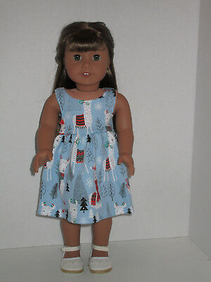 "Winter Llama & Trees Sundress for 18"" Doll Clothes American Girl"