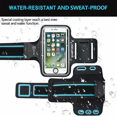 iPhone XS X 8 7 6S 6 Plus for Women and Men,Water Resistant Sports Arm band Case