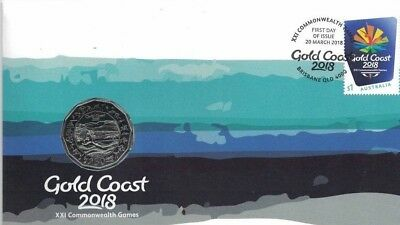 2018 Australia PNC 50c UNC Coin -  Gold Coast 2018 XXI Commonwealth Games
