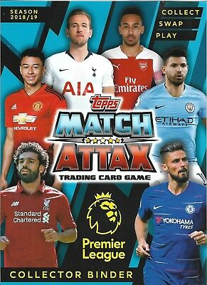 Match Attax 2018/19 Full 18 Card Team Sets Pick What You Need