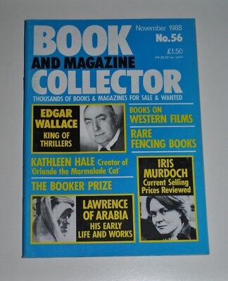Book Collector Nov 1988 # 56 Edgar Wallace, T.E Lawrence, Iris Murdoch, Fencing