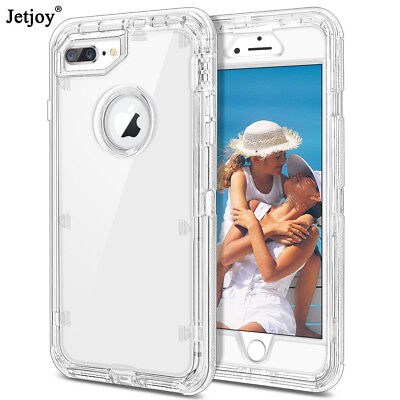 For iPhone 11 Pro Max 8 Plus Heavy Duty Shockproof Clear Transparent Case Cover