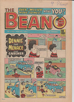 THE BEANO UK COMIC November 6 1982 No. 2103 Original Vintage  Birthday Gift