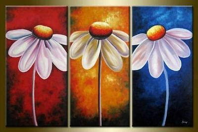 CHOP872 fine 100/% hand painted abstract flower art oil painting art on canvas