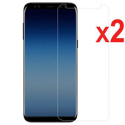 2X For Samsung Galaxy J7 Pro 2017 J4 J6 J8 2018 Tempered Glass Screen Protector