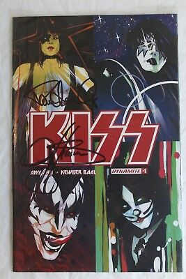 Kiss #1 1:50 Incentive Variant Dynamite 2016 SIGNED BY PAUL STANLEY GENE SIMMONS