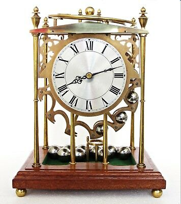 Rare Vintage English Spherical Weight Rolling Ball Mystery Table Mantel Clock