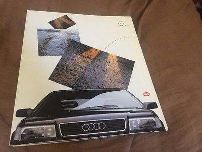 1990 Audi Full Line  USA Market Color Brochure Prospekt