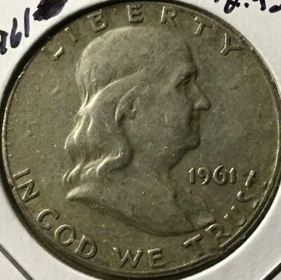 1961-P Us Benjamin Franklin Half Dollar