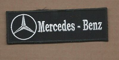 New 1 1/2 X 4 5/8 Inch Mercedes Benz Iron On Patch Free Shipping