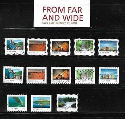 Lot #  18/ 1    Canada   2018   Used 13  Stamps Diff