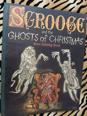 Giant Vtg Scrooge & The Ghosts Of Christmas Past Story Coloring Book 1974 unused