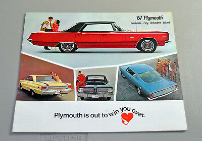 1967 Plymouth Barracuda Fury dealer brochure Belvedere Valiant lot 1 3