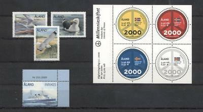 (957151) Birds, Ship, Round Stamp, Small lot, Miscellaneous, Aland