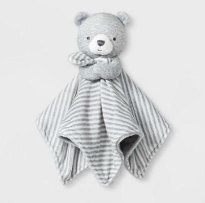 9b8383fd0 NWT Carters Just One You Gray Bear Security Blanket White Stripe Target  Lovey