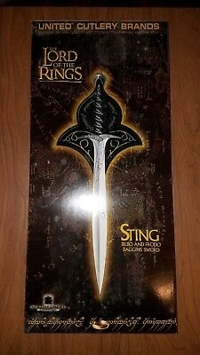 Official LOTR Lord of the Rings United Cutlery STING Sword Frodo and Bilbo - New