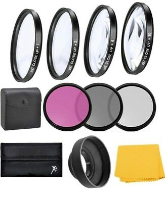 49mm Lens Close up & Filter Kit For Canon EOS M5 M6 M10 M50 M100 w/ 15-45mm Lens
